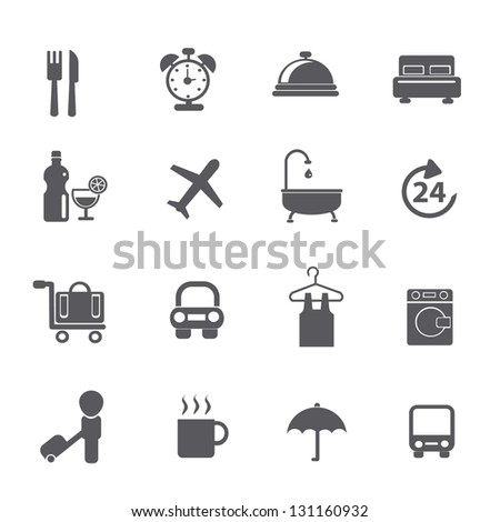 Hotel icons,vector - stock vector