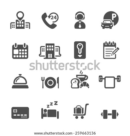 hotel service icon set 3, vector eps10. - stock vector