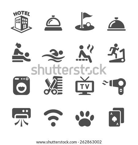 hotel service icon set 5, vector eps10. - stock vector