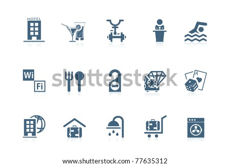 Hotel service icons - stock vector