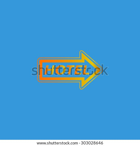 Hotel signboard vector. Flat web icon or sign isolated on grey background. Collection modern trend concept design style vector illustration symbol - stock vector