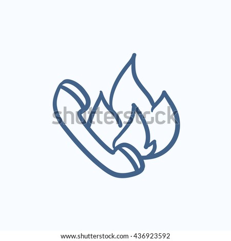 Hotline vector sketch icon isolated on background. Hand drawn Hotline icon. Hotline sketch icon for infographic, website or app. - stock vector