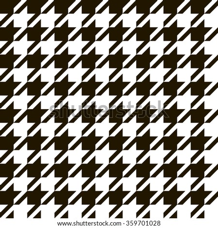 houndstooth seamless pattern black and white geometric fabric background in vector