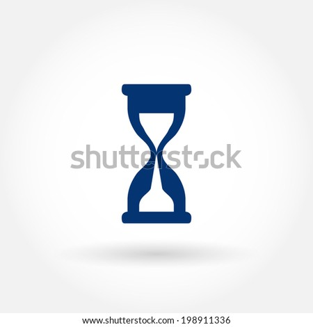 Hour glass icon. Modern line icon design. Modern icons for mobile or web interface. Vector illustration.  - stock vector