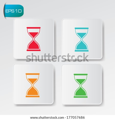 Hourglass buttons,vector - stock vector