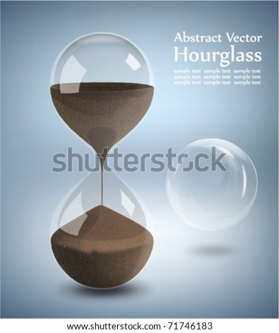 Hourglass - Grains of sand falling down - stock vector