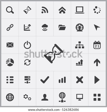 hourglass icon. development, soft icons universal set for web and mobile