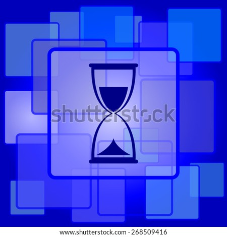 Hourglass icon. Internet button on abstract background.  - stock vector