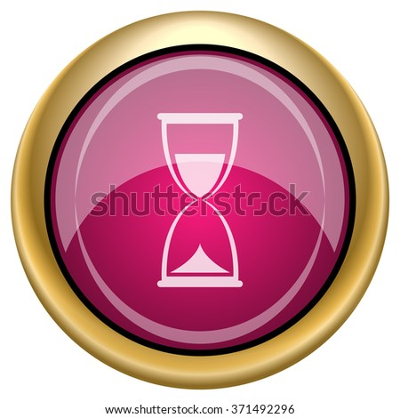 Hourglass icon. Internet button on white background. EPS10 vector.