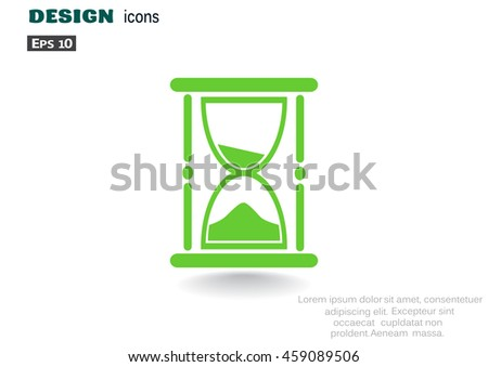 Hourglass icon Vector.