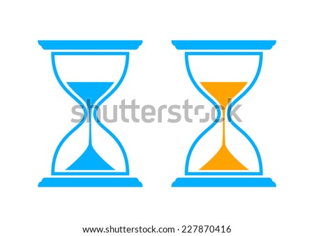 Hourglass icons on white background - stock vector