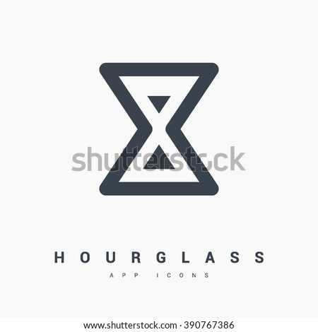 Hourglass isolated minimal single flat linear icon for application and info-graphic. Time line vector icon for websites and mobile minimalistic flat design. - stock vector