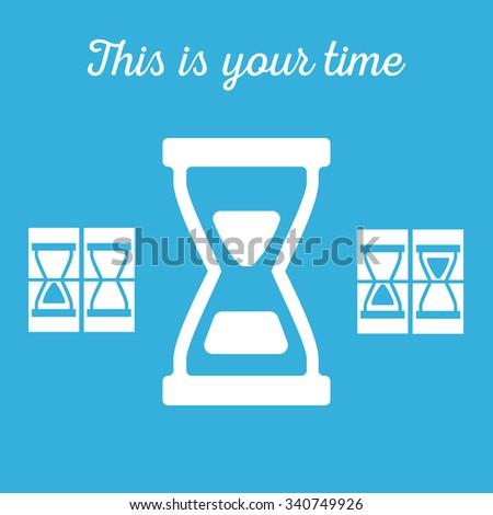 Hourglass, sandglass in vector - stock vector