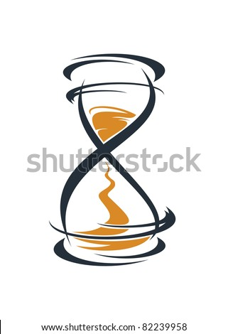 Hourglass symbol, such a logo. Jpeg version also available in gallery - stock vector