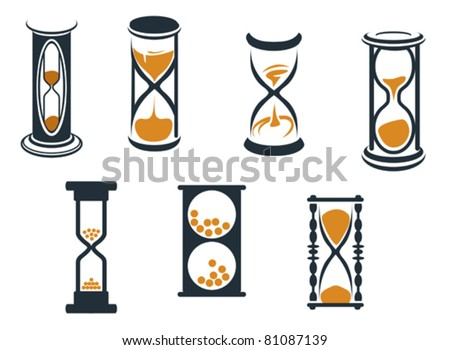 Hourglass symbols and icons for time concept and design, such a logo. Jpeg version also available in gallery - stock vector