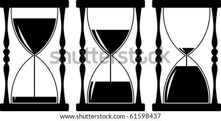 hourglass timer - stock vector