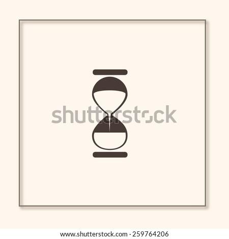 Hourglass. Vector. - stock vector
