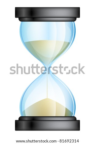 hourglass vector illustration - stock vector