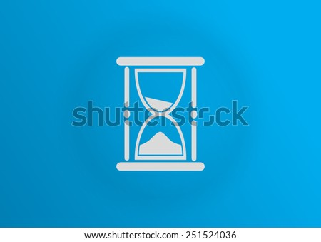 hourglass web icon. vector design