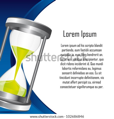 hourglass with space for copy backkground. vector illustration - stock vector