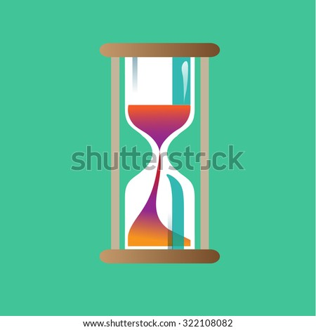 Hourglass with Sunset Sand Color