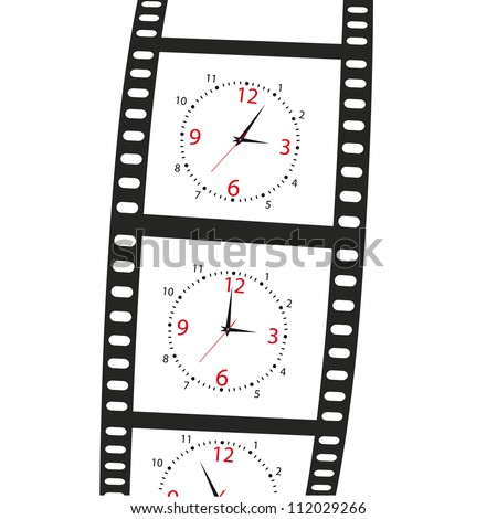 hours on a film shot on a white background.Vector illustration - stock vector