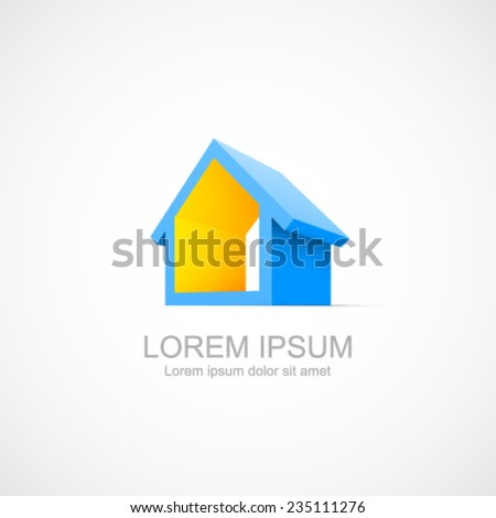 House abstract real estate icon. Easy to change color. - stock vector
