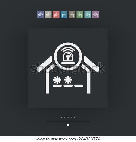 House alarm icon - stock vector