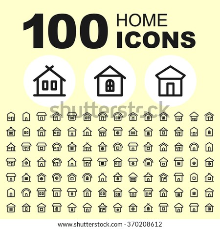House and real estate icons. Building pictogram. Home vector graphic. Cottage design collection. - stock vector