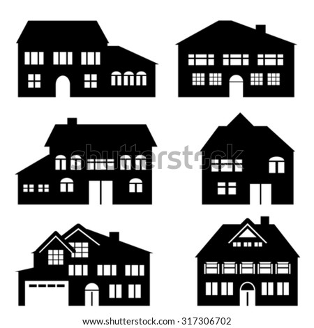 House, architecture and real estate icon set - stock vector