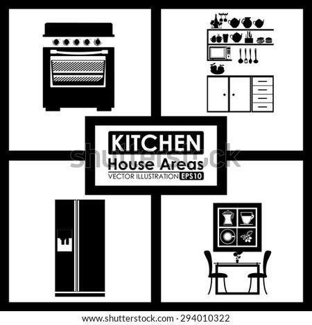 House areas digital design, vector illustration eps 10