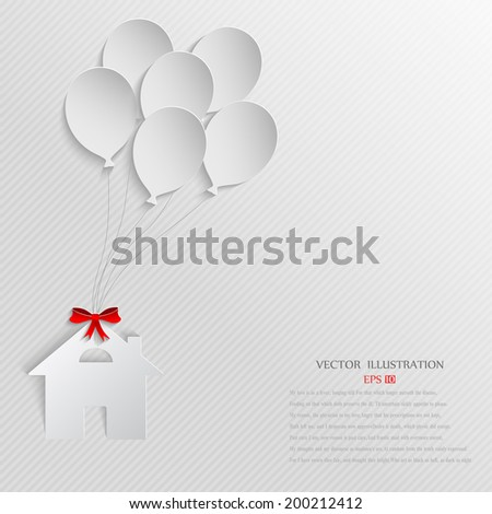 House as a gift for you - stock vector