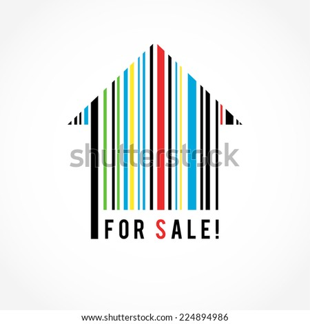 House barcode. Vector design