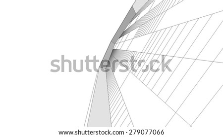 House building. Architectural background