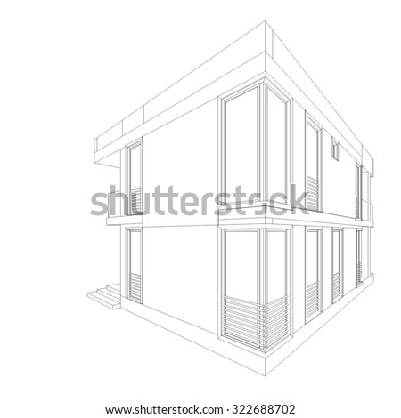house building architectural drawing - Architectural Drawings Of Modern Houses