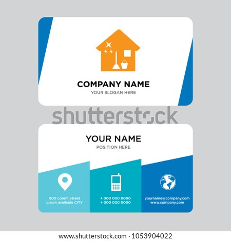 House cleaning business card design template stock vector 2018 house cleaning business card design template visiting for your company modern creative and clean cheaphphosting Images