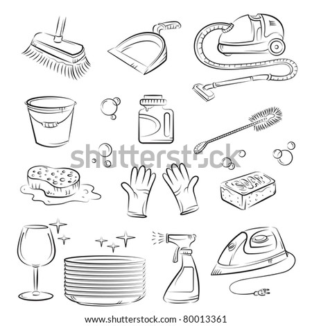 House cleaning stuff - stock vector