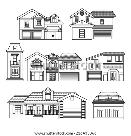 House Collection - stock vector