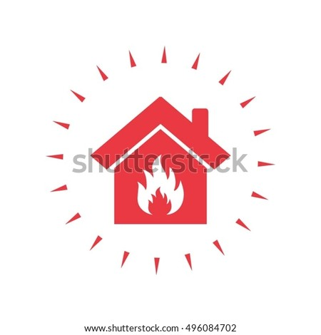 house fire vector