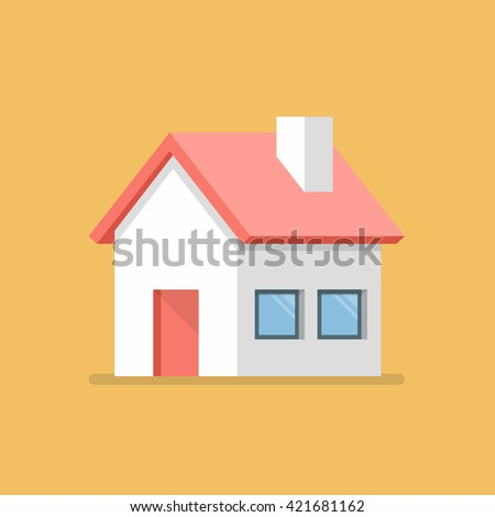 House flat icon. flat style vector illustration