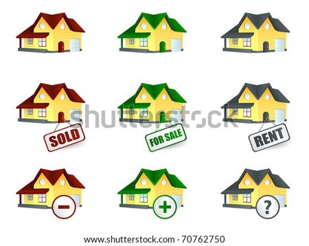 House for sale and rent - stock vector