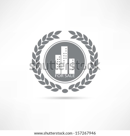 House for sale icon - stock vector