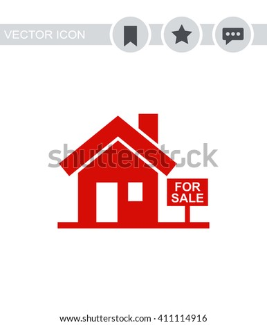 House for sale Icon.  - stock vector