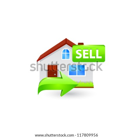 House for sale icon. Vector - stock vector