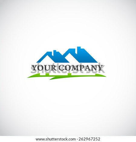 House for sale, logo for firm, company trademark,  - stock vector