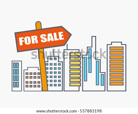 House Sale Real Estate Market Analysis Stock Vector