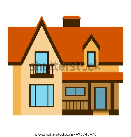 Stock images royalty free images vectors shutterstock for Simple house front view