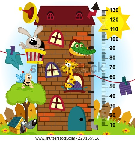 house height  measure (in original proportions 1:4) - vector illustration, eps - stock vector