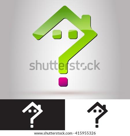 House. House Logo. Real Estate. Real Estate. Logo Real Estate. Real Estate Logo,home logo,house logo, property logo. Real Estate.Real Estate Logo Icon. Development logo. Green house home. House Icon. - stock vector