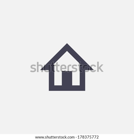 house icon - stock vector